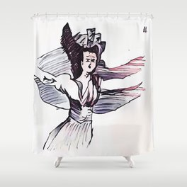 Los Caprichos ~ 61 ~ They Have Flown Shower Curtain