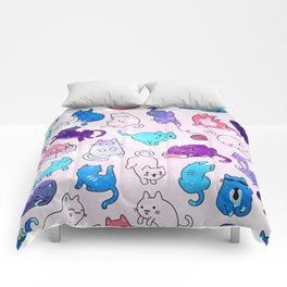 Space Cats Pattern Comforters