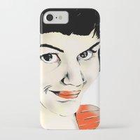 amelie iPhone & iPod Cases featuring Amelie by Bubble Trump Ltd