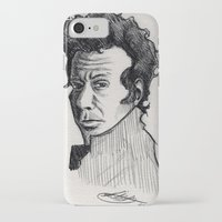 tom waits iPhone & iPod Cases featuring TOM WAITS by Simone Bellenoit : Art & Illustration