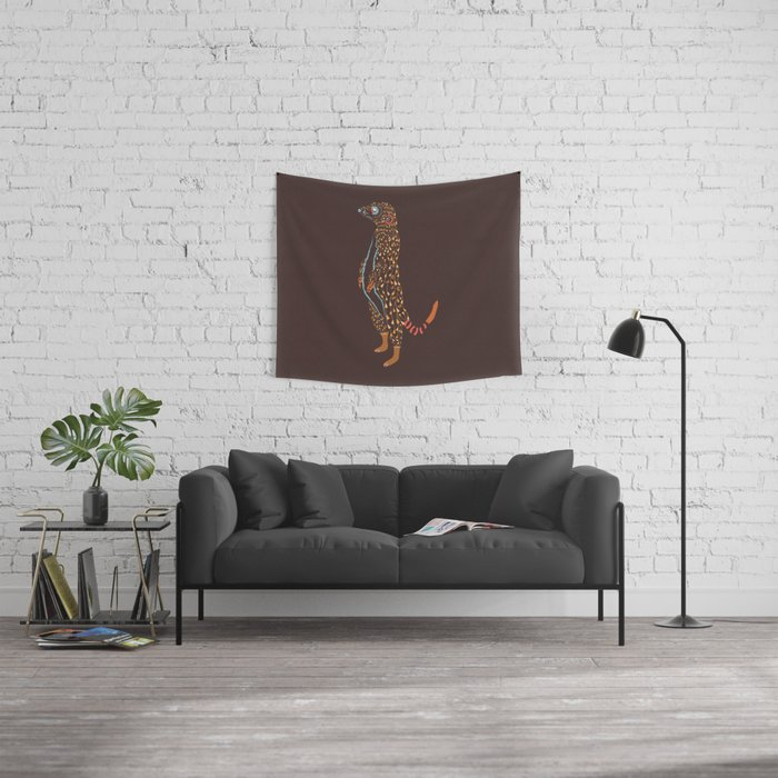 Abstract Meerkat Wall Tapestry