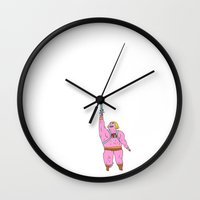 he man Wall Clocks featuring He-man by Graphic Airlines