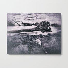 Riverfront - Steel Dam Area - Milan, IL - Winter 2017 Metal Print