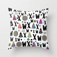 1975 Throw Pillows featuring x.1975 by Nikola Nupra
