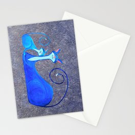 Cat Painting 05 Stationery Cards