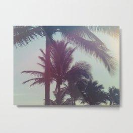 Dreamy Palm Trees Metal Print