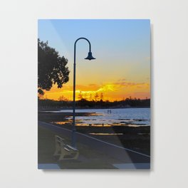 Wynnum Sunset Metal Print