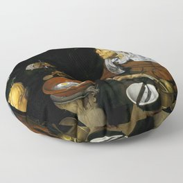 "Diego Velázquez ""An Old Woman Cooking Eggs"" Floor Pillow"