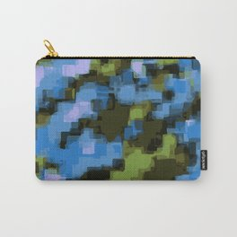 green black and blue square pattern abstract background Carry-All Pouch