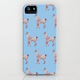 blue llamas iPhone Case