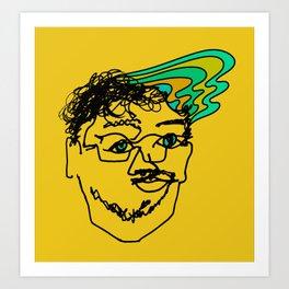 Bef - mustard Art Print