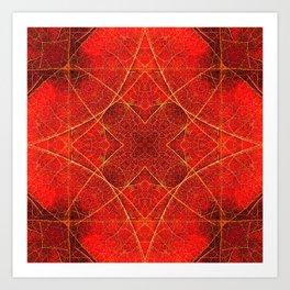 Maple Leaf Symmetry Art Print