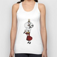 cage Tank Tops featuring the cage by cappellosenzatesta