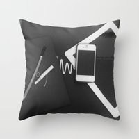 artsy Throw Pillows featuring Artsy by Patrick K