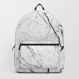 Minimalist modern black white abstract marble pattern Backpack