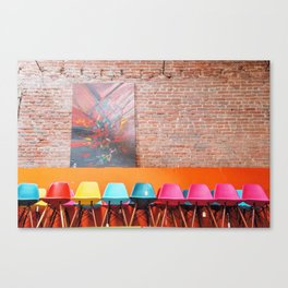 Colorful Eames Chairs Canvas Print