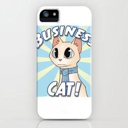Business Cat! iPhone Case