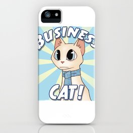 Business Cat! iPhone Case