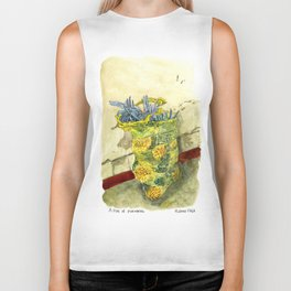 A Bag of Pineapples Biker Tank