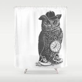 Owl Skool Shower Curtain