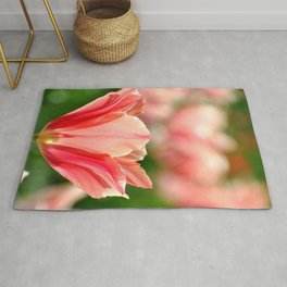 SPRING PINK AND RED TULIP Rug
