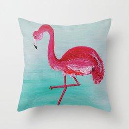 Frank the Flamingo Throw Pillow
