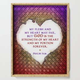 The Strength of My Heart Serving Tray