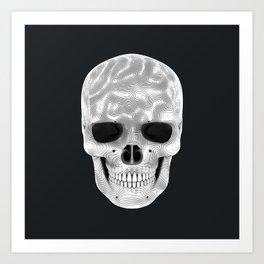 Organic White Skull 01 Art Print