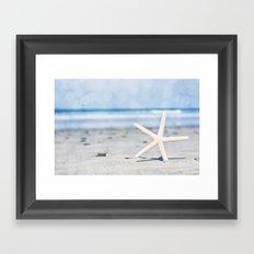 Starfish By The Seashore  Framed Art Print