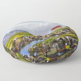 a cove in trinity, NL Floor Pillow