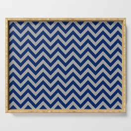 Chevron Pattern - navy and grey - more colors Serving Tray