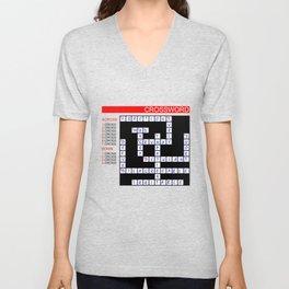 Crossword Unisex V-Neck