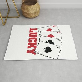 Luckey Enough? Always a Winner? A Perfect tee for you that says Lucky Winner T-shirt Design  Rug