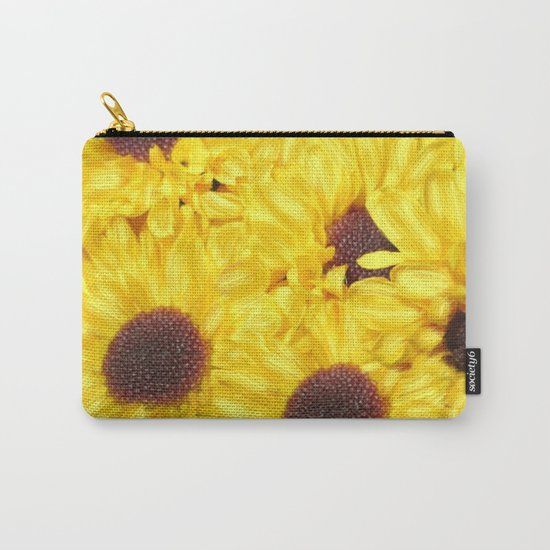 Painterly Yellow Sunflowers Carry-All Pouch