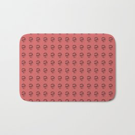 Jeff Goldblum Pattern Red Bath Mat