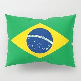 Brazil Flag Graphic Design Pillow Sham