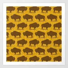 Buffalo Bison Pattern 288 Art Print