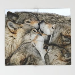 Muzzle Nuzzle Throw Blanket