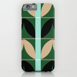 Abstraction_Floral_Pattern_Art_Minimalism_002B iPhone Case