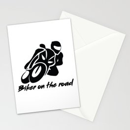 Biker on the road 1 Stationery Cards