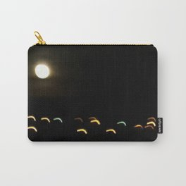 the moon plays with lights Carry-All Pouch