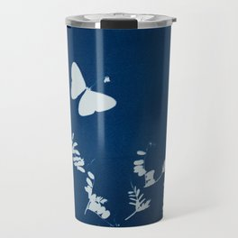 Cyano-butterfly Travel Mug