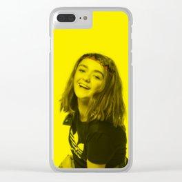 Maisie Williams - Celebrity (Florescent Color Technique) Clear iPhone Case