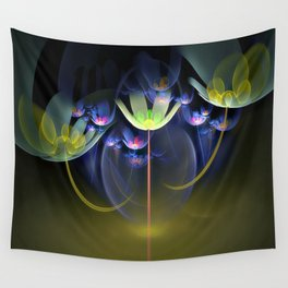 3D Color Flowers Wall Tapestry