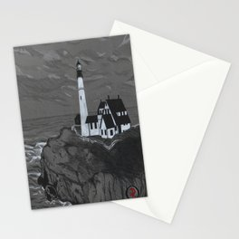 Darrell Merrill Nerd Artist LIGHTHOUSE Stationery Cards
