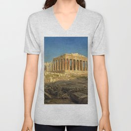 Frederic Edwin Church - The Parthenon - Digital Remastered Edition Unisex V-Neck
