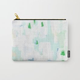 Sevli - abstract painting minimal art trendy colors dorm college home decor canvas wall art Carry-All Pouch