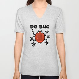 DeBug Too Unisex V-Neck