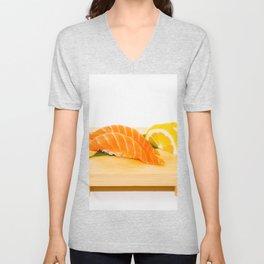 Salmon Sushi Unisex V-Neck