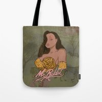 "lebron Tote Bags featuring ""Ms. Rabbit""  by SaintCastro"